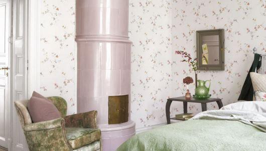 ljusa tapeter sovrum